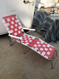 Chaise Lounge Lawn Chair Aluminum Webbed Folding Reclining Vintage Camping Patio Modesto, 95355