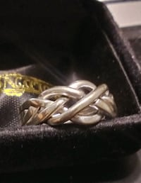 14k white gold puzzle ring