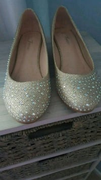 Sparkly low wedge shoes Rochester, 14617