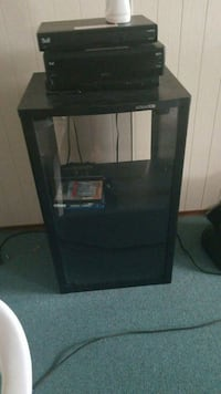 black wooden framed glass cabinet Edmonton, T6X 1A4