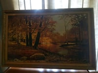 brown wooden framed painting of house Toronto, M6G