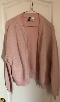 H&M pink sparkle light jacket