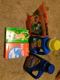 assorted detergent products