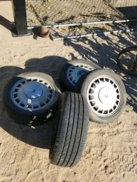 Off of 1990 honda. Two tires bad 2 ok, all 4 hold  Victorville, 92395