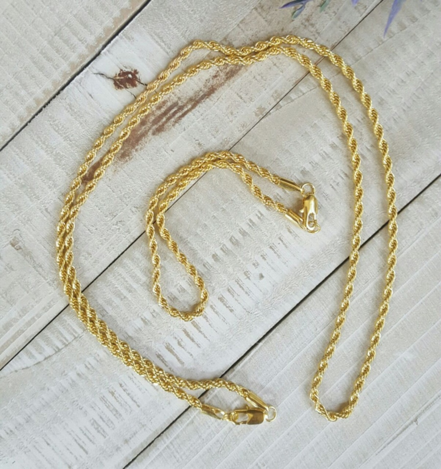 Photo 26 Inch 2Pc/set 3mm Long Rope Chain