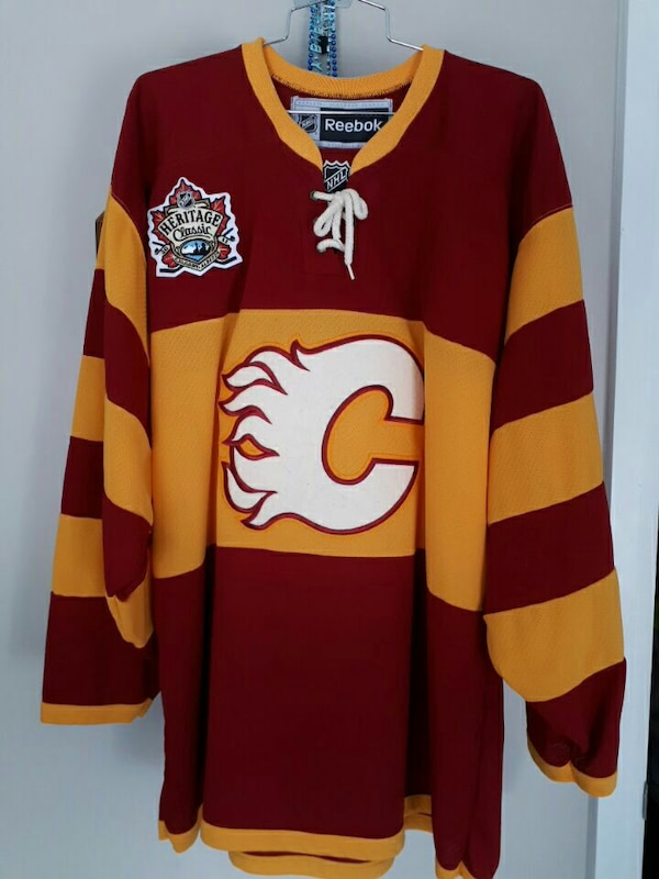 Used Heritage Classic Calgary Flames Jersey for sale in Saint ... 0b9fb0390fa