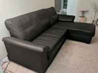 Black Leather  couch Warren, 48092