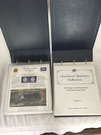 50 state quarter and stamp Collection by Postal Commemorative Society Charlotte, 28269