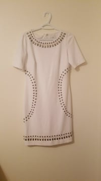 women's white and gray scoop-neck dress Asheville, 28805