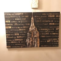black and brown Empire State Building painting Sheffield
