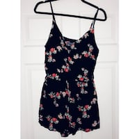 Black and pink floral spaghetti strap romper Anaheim, 92804