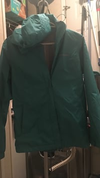 Green Columbia coat with hood