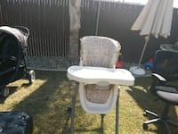 baby's white and gray high chair Bakersfield