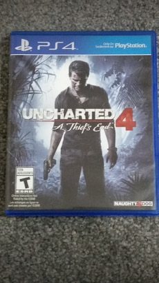 PS4 Uncharted 4 game case