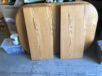 brown wooden table with cabinet