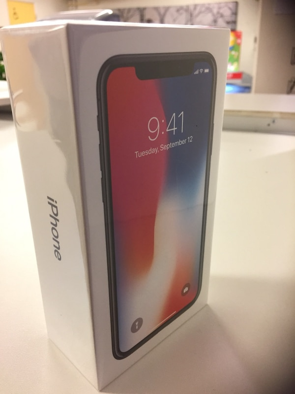 IPhone X 256GB (olåst, kvitto, garanti)