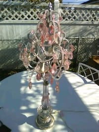 Pink crystal/cherub lamps Manville, 08835