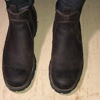 pair of black leather round toe Chelsea boots Winnipeg, R2V 3H7