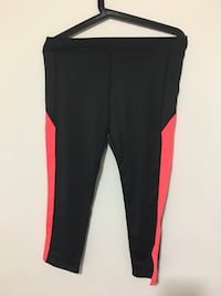 black and pink track pants