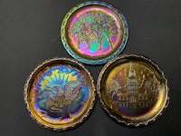 USA Bicentennial Carnival Glass Plate , pick up only