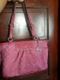 pink Coach leather tote bag Lawrence, 01843