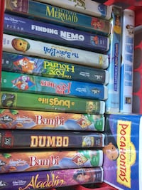 15 Disney VHS movies.  $2 each all for $20 Slidell, 70460