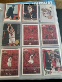 assorted trading cards in box