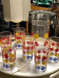 VINTAGE GLASSWARE SET OF 7  North Dumfries, N0B