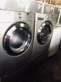 two gray front-load clothes washer and dryer set Franklin Lakes, 07417