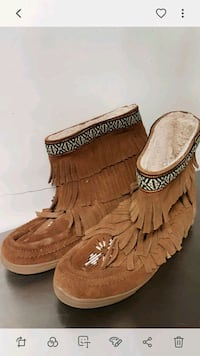 pair of brown leather fringe boots Erin, N0B 1T0