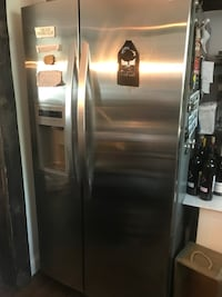 stainless steel side-by-side refrigerator with dispenser Wappingers Falls, 12590