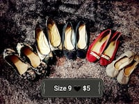 Womens size 9 5 pairs of flats for $5