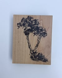 Trees Rubber Stamp with Wood Base by Penny Black ~ 2938K Beverly Hills, 90211