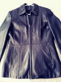 black leather zip-up jacket Caledon, L7E 1X2