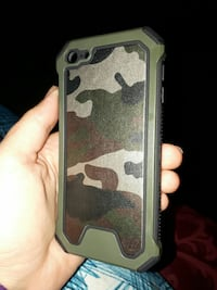 black and green camouflage iPod 6 case