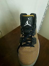 unpaired black and brown Air Jordan shoe Laurel, 20708