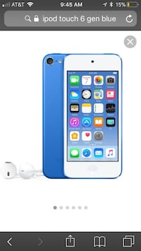 6th generation blue iPod Touch used