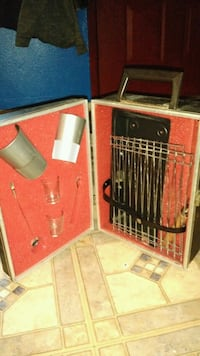 Small BBQ Grill and silver tumblers on the go Las Vegas, 89115