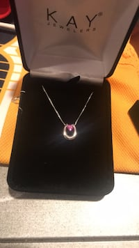 Silver and pink gemstone pendant necklace Brentwood, 37027