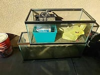 two clear glass pet tank s Turlock, 95380