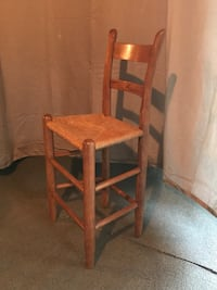 Oak chair with woven rope seat Warrenton, 20186