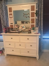 white wooden dresser with mirror Clarksburg, 20871