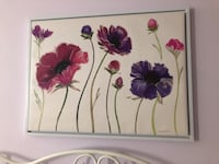 white and purple flower painting Toronto, M3C 1L4