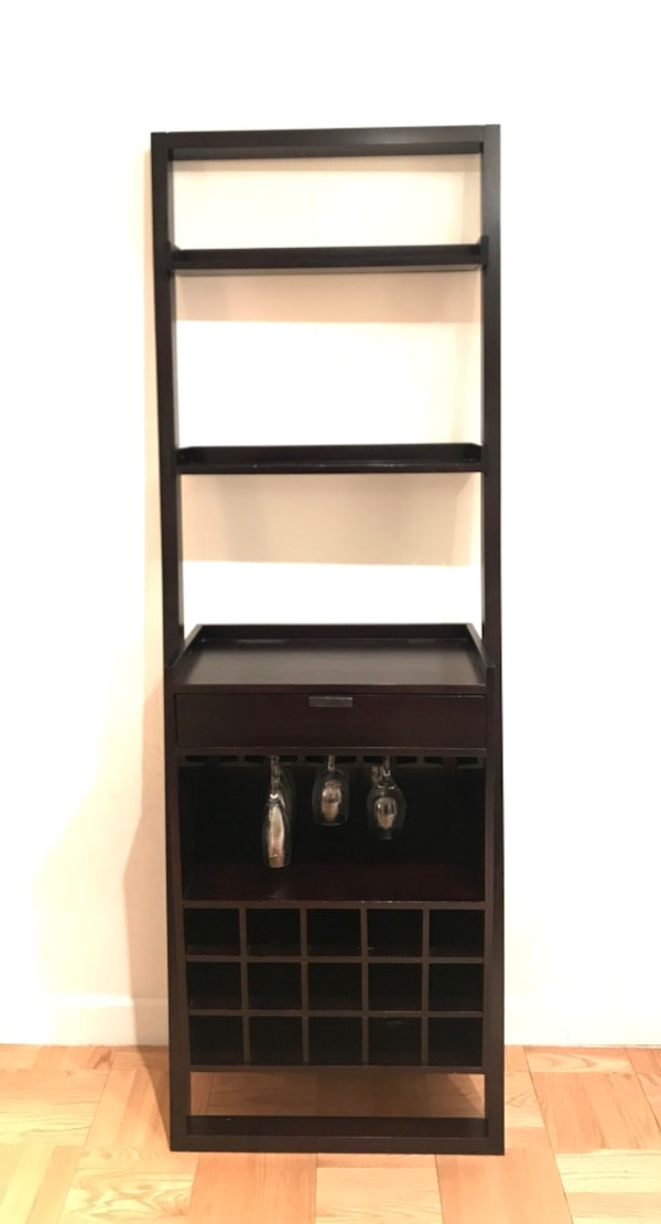 Used Crate Barrel Leaning Wine Bar Mocha For Sale In New York