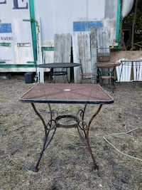 """30""""by30"""" metal patio table"""
