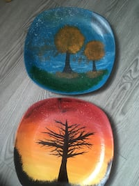Painted collectable  plates