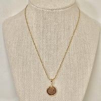 14k Gold Roman Coin Pendant with 14k Rope Chain Ashburn