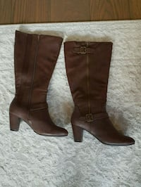Brown leather boots from Autograph  Greenvale, 3059