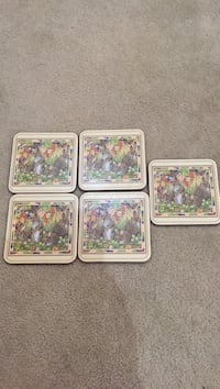Pimpernel Easter drink coasters. Set of 5 Herndon, 20170