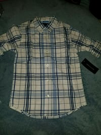 Boys Size 5 Hilfiger Button Down Shirt Fox Lake